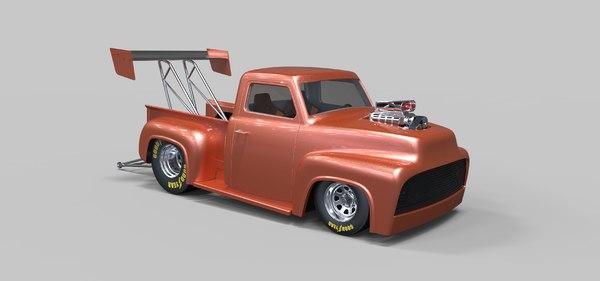 3D model drag dragster