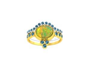 ring opal 3D model