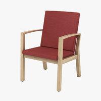 3D armchair realistic model