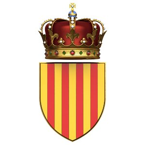 coat arms catalonia 3D
