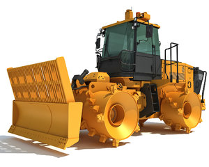 landfill compactor 3D model