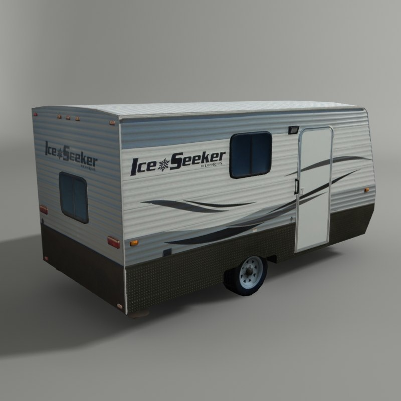 3D trailer camp model