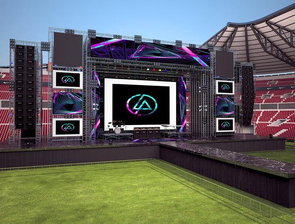 stage live stadium model