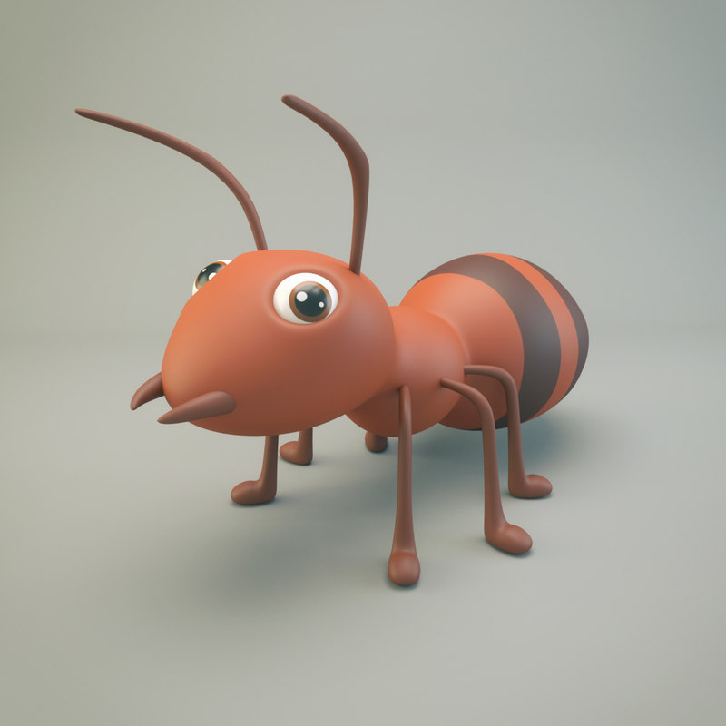 3D model ant cartoon