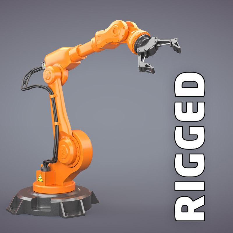 3D robotic arm manipulator model