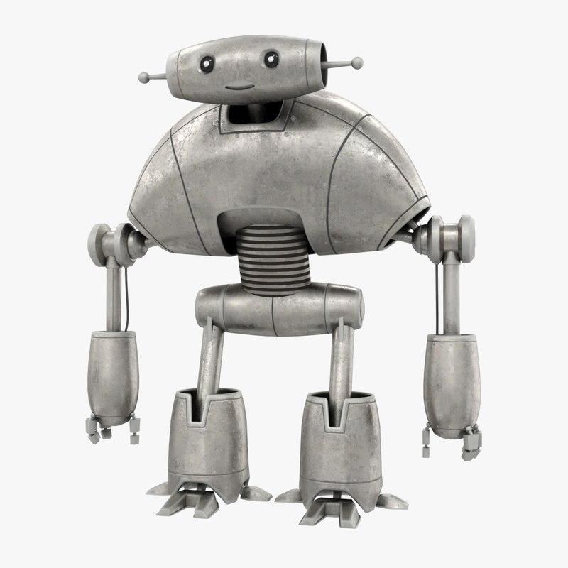 3D bot robot character