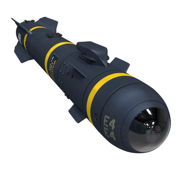 agm-114 hellfire missile blender 3D model