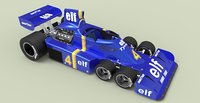 3D tyrrell p34 six-wheeler formula model
