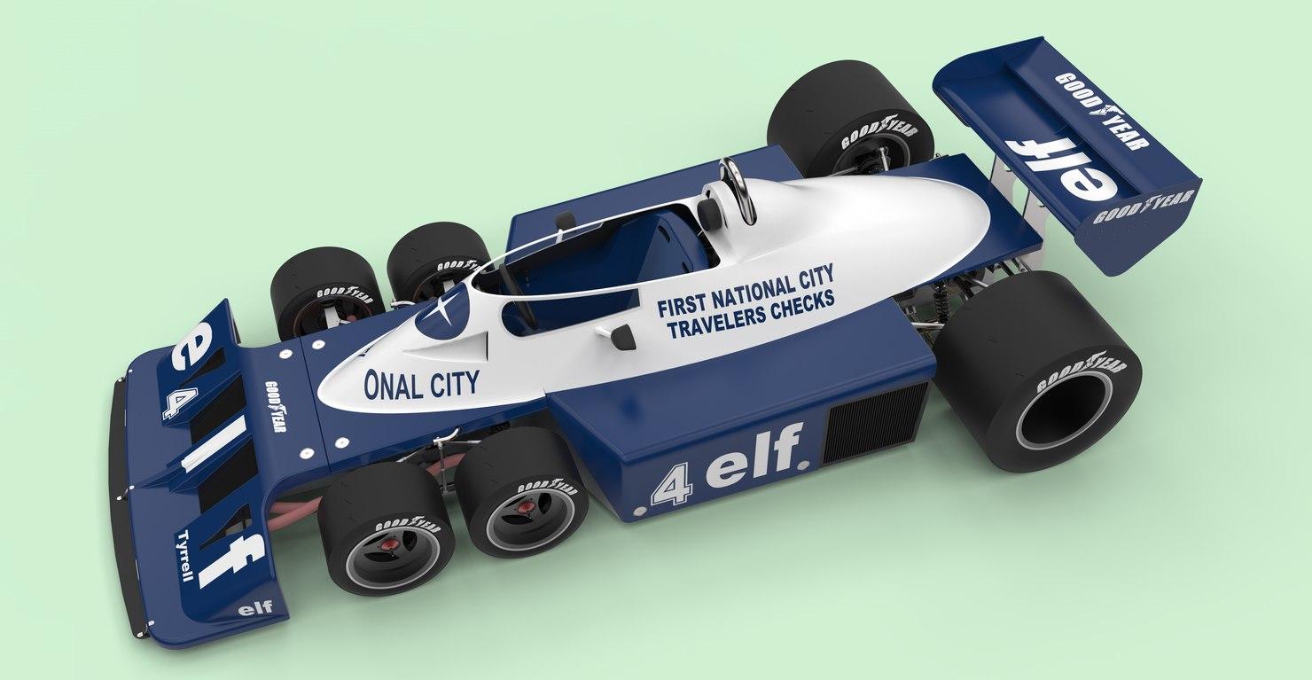 3D tyrrell p34b six-wheeler formula