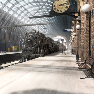 train station king s 3D model