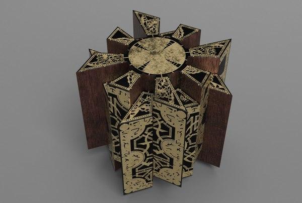 3D puzzle box model