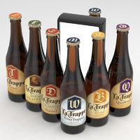 3D bottles beer la trappe