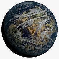 fictional terrestrial planet atmosphere 3D
