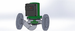 centrifugal circulating pump 3D model