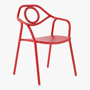 3D realistic photoreal chair model