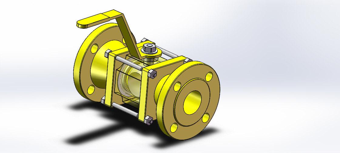 flanged ball valve dn100 model