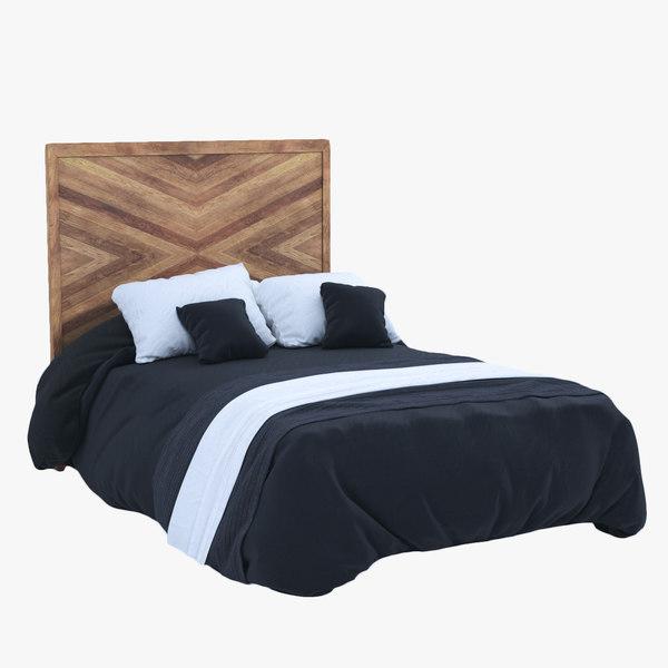 3D model westelm alexa bed