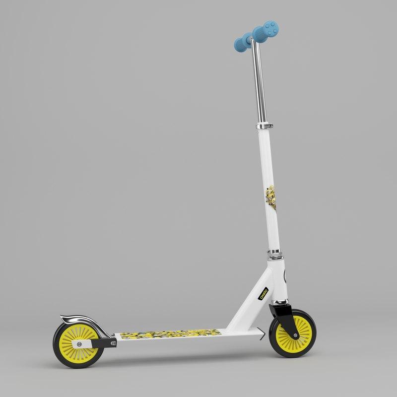 children scooter 3D