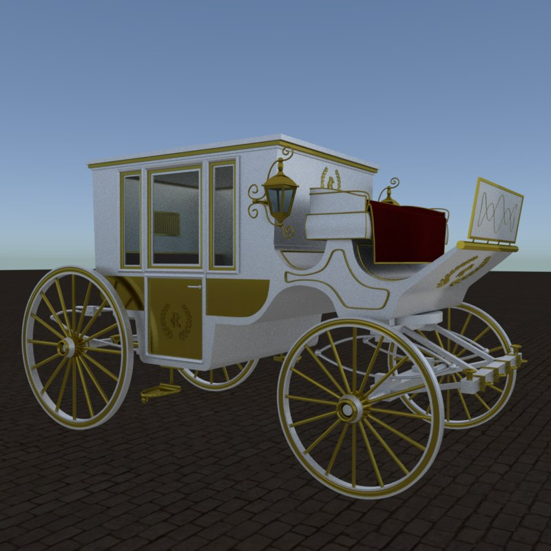 3D royal carriage