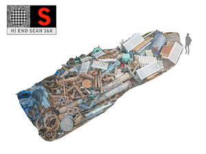 3D debris industrial pipes