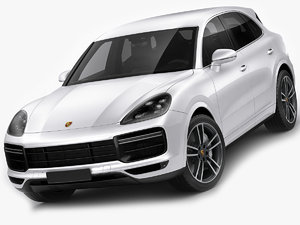 3D porsche cayenne turbo model