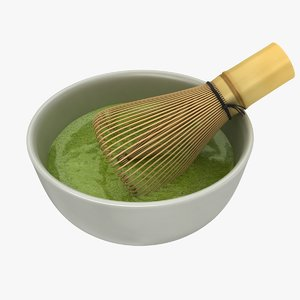 chasen brush tool matcha 3D model