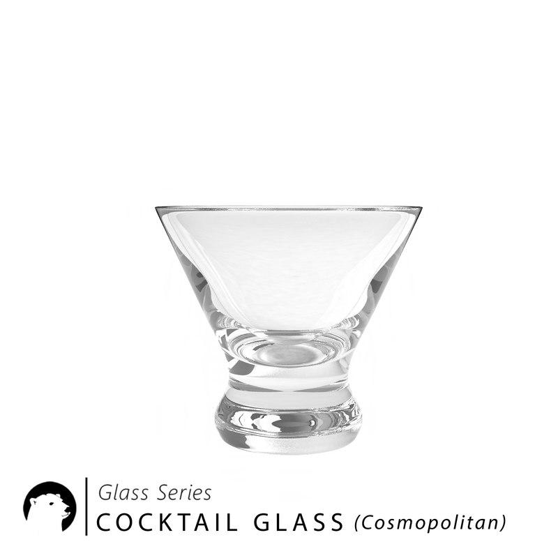 3D model cocktail glass