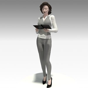 woman realistic 3D