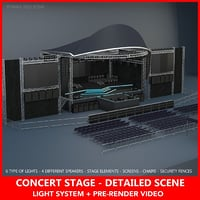 Concert stage_Detailed
