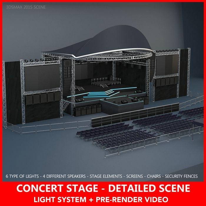 3D concert stage details