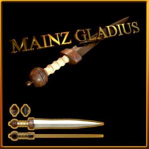 roman gladius mainz 3D model