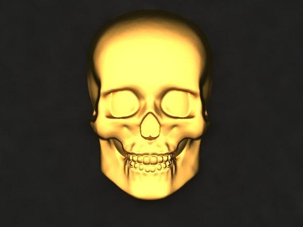 skull mold decor 3D