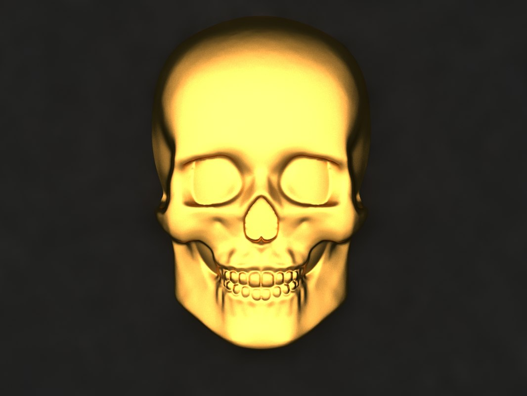 skull mold decor 3D