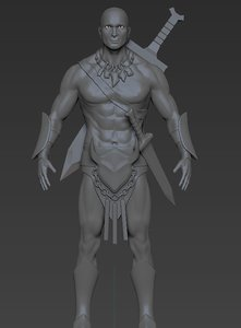 3D zbrush character model