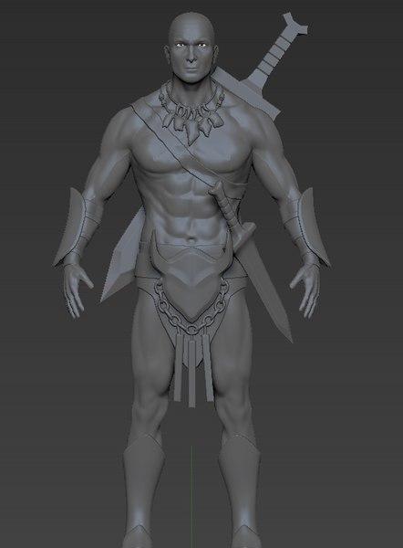 3D zbrush character model