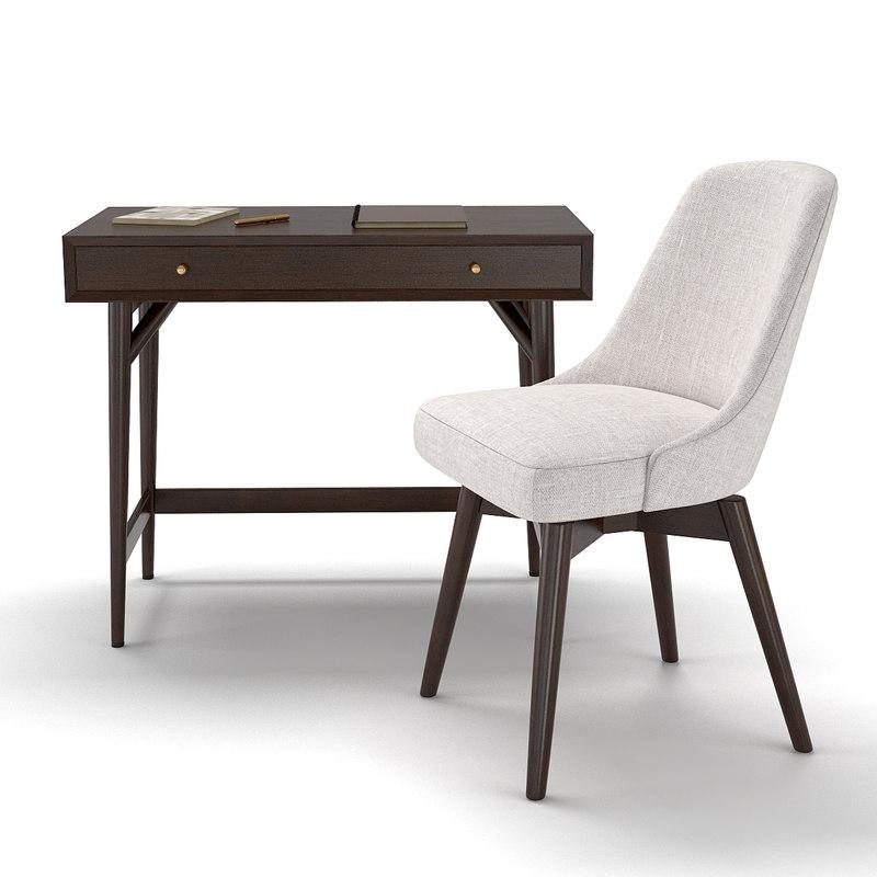 desk chair - mid-century 3D model
