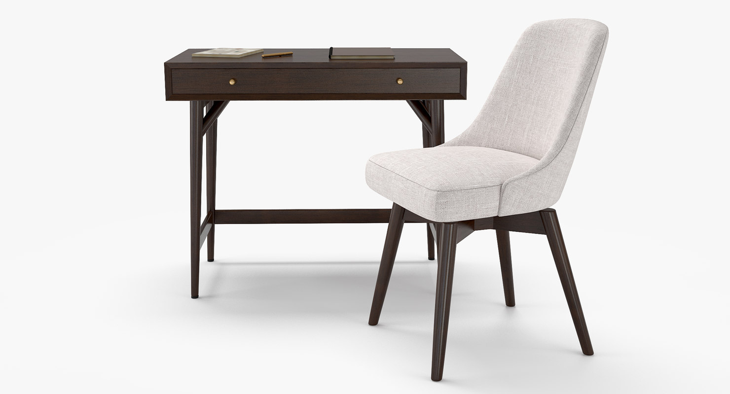 ... Desk Chair   Mid Century 3D Model ...