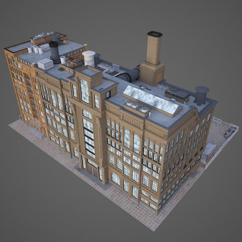 3D old factory model