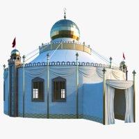 3D model persian tent