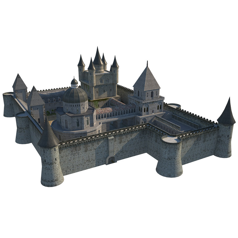 fortress medieval building model