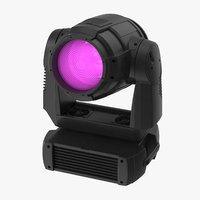 3D model colored spot stage light