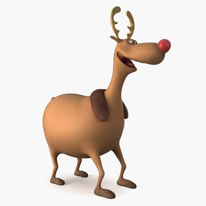 3D cartoon reindeer