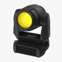 Colored Spot Stage Light 02 Hanging Yellow