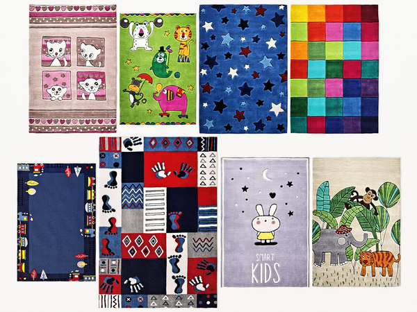 3D children rugs