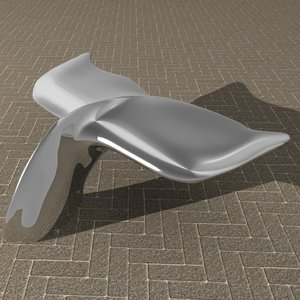 3D whale tail bench