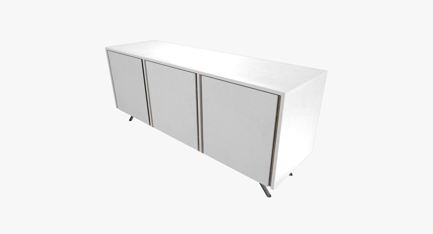 3D sideboard white