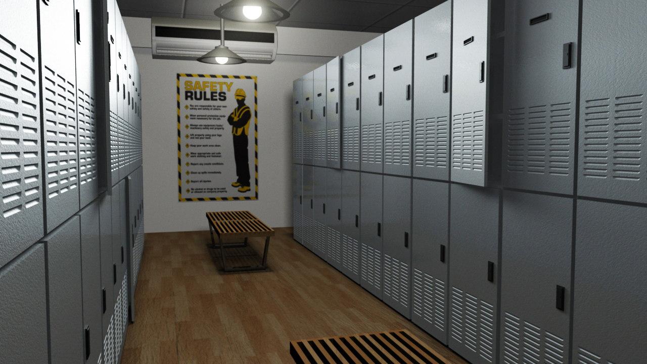 locker room model