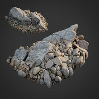 scanned nature stone 037 3D model