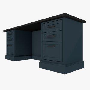 3D model desk muka