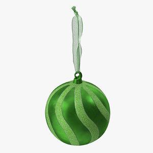 ornament 03 green 3D